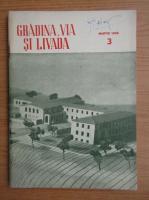 Revista Gradina, via si livada, nr. 3, martie 1958