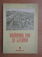 Revista Gradina, via si livada, nr. 9, septembrie 1955
