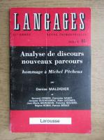 Revista Langages, nr. 81, mars 1986