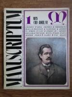 Anticariat: Revista Manuscriptum (nr. 1, 1975)