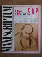 Anticariat: Revista Manuscriptum, nr. 3, anul VII, 1976