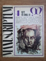 Anticariat: Revista Manuscriptum (nr. 4, 1972)