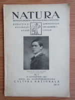 Revista Natura, nr. 8, octombrie 1927