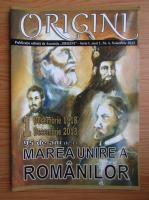 Anticariat: Revista Origini, seria I, anul 1, nr. 4, Noiembrie 2013
