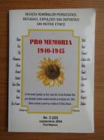 Anticariat: Revista Pro Memoria, nr. 3, septembrie 2009