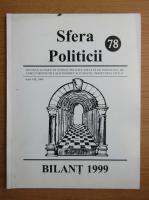Anticariat: Revista Sfera Politicii, anul VIII, nr. 78, 2000