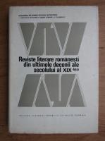 Reviste literare romanesti din ultimele decenii ale secolului al XIX-lea