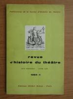 Anticariat: Revue d'histoire du theatre, nr. 1, 1960