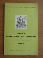 Anticariat: Revue d'histoire du theatre, nr. 4, 1959