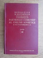 Anticariat: Rezolutiile si hotararile congreselor, conferintelor Partidului Comunist al Uniunii Sovietice si ale plenarelor C. C. (volumul 3)