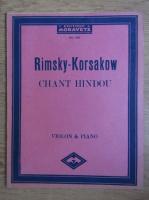 Anticariat: Rimsky-Korsakow, Chant Hindou, Violon and Piano, nr. 143
