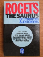 Roget s Thesaurus of synonyms and antonyms