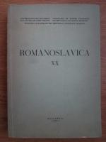 Anticariat: Romanoslavica XX