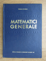 Anticariat: Romulus Cristescu - Matematici generale