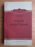 Anticariat: S. Damian - Incercari de analiza literara