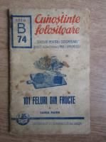 Sanda Marin - Cunostinte folositoare. 101 feluri mancari din fructe (1940)