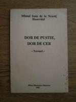 Anticariat: Sfantul Ioan de la Neamt Hozevitul - Dor de pustie, dor de cer. Versuri