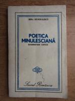 Anticariat: Sina Danciulescu - Poetica minulesciana