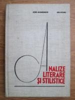 Anticariat: Sorin Alexandrescu, Ion Rotaru - Analize literare si stilistice