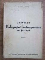 Stefan Barsanescu - Unitatea pedagogiei contemporane ca stiinta (1936)