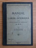Stefan Klett - Manual de limba germana (1933)