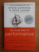 Anticariat: Steve Zaffron - The three laws of performance
