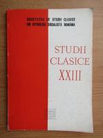 Studii clasice XXIII
