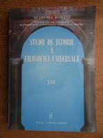 Anticariat: Studii de istorie a filosofiei universale