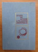 Studii de istorie a filozofiei universale, volumul 1