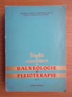 Studii si cercetari de balneologie si fizioterapie (volumul 9)