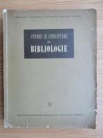 Studii si cercetari de bibliologie (volumul 2)