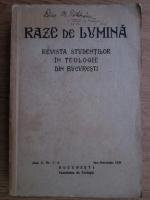 Anticariat: Teodor N. Manolache - Raze de lumina. Revista studentilor in Teologie din Bucuresti (1938)