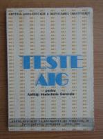 Anticariat: Teste pentru abilitati intelectuale generale