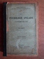 Anticariat: Th. Ribot - Psychologie anglaise (1875)