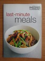 Anticariat: The Australian Women's Weekly. Last-minute meals