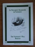 Anticariat: The Napoleon's will written