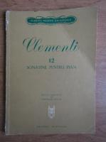 Anticariat: Theodor Balan - Clementi, 12 sonete pentru pian