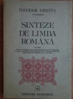 Theodor Hristea - Sinteze de limba romana