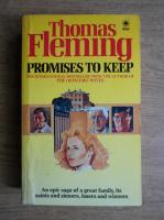 Anticariat: Thomas Fleming - Promises to keep