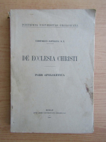 Anticariat: Timotheus Zapelena - De ecclesia christi (1940)