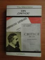 Anticariat: Titu Maiorescu - Din Critice