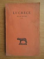 Anticariat: Titus Lucretius Carus - De la nature (volumul 1, 1942)