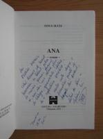 Anticariat: Titus Suciu - Ana (cu dedicatia autorului pentru Florin Piersic)