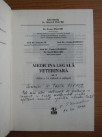 Traian Enache - Medicina legala veterinara, 2 volume (cu autograful autorului)