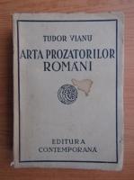 Tudor Vianu - Arta prozatorilor romani (1941)