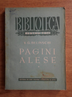 V. G. Belinschi - Pagini alese