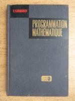 V. Karmanov - Programmation mathematique
