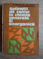 Anticariat: V. T. Marculetiu - Aplicatii de calcul in chimia generala si anorganica