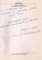Valentin Radu - Inapoi in Arcadia (cu autograful autorului)