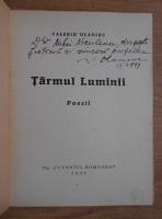 Valeriu Olaniuc - Tarmul luminii. Poezii (1939, cu autograful autorului)